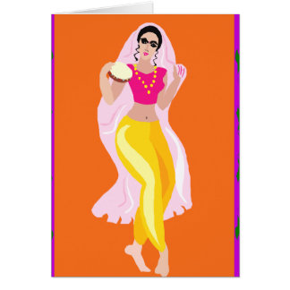 Cartão Dançarino de barriga