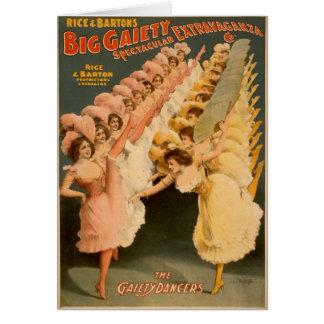 Cartão Dançarinos 1900 da alegria