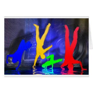 Cartão Dançarinos da ruptura