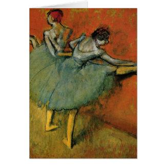 Cartão Dançarinos de Edgar Degas | no bar