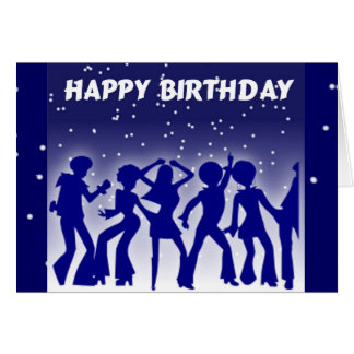 Cartão Dançarinos do disco do feliz aniversario