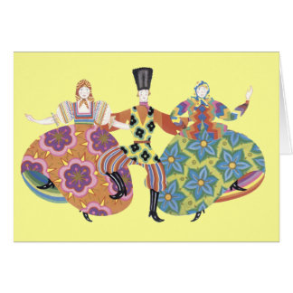 Cartão Dançarinos populares do russo