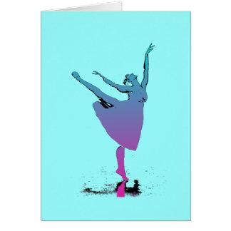 Cartão Danças do dançarino do Arabesque