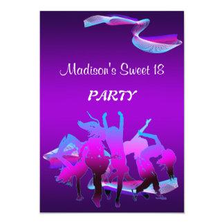 Cartão Dance party do aniversário