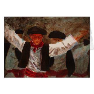 Cartão Dantzaritxiti - dançarino Basque