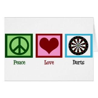 Cartão Dardos do amor da paz