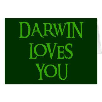 Cartão Darwin ama-o