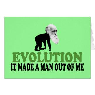 Cartão Darwin engraçado