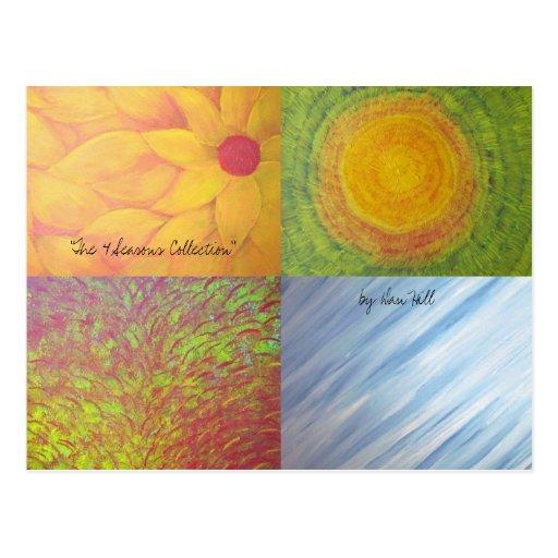 """'Cartão das 4 estações"""" Cartão Postal"""