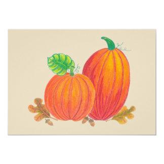 Cartão das abóboras da colheita do outono