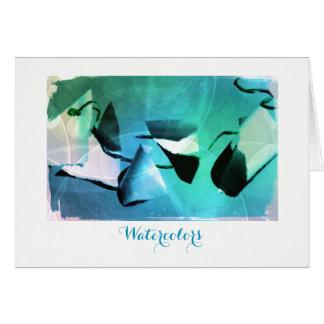 Cartão das aguarelas