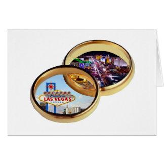 Cartão das alianças de casamento de Las Vegas