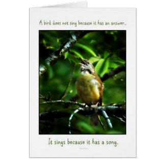 Cartão das aves canoras