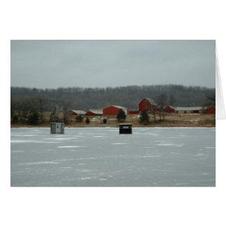 Cartão das barracas do gelo