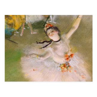 Cartão das belas artes da bailarina de Edgar Degas