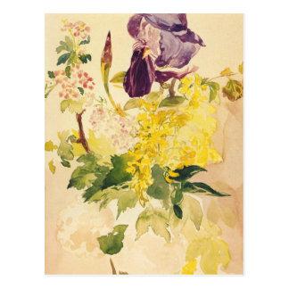 Cartão das belas artes de Manet Cartão Postal