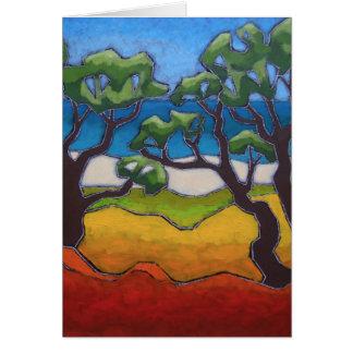 Cartão das belas artes de uma pintura original