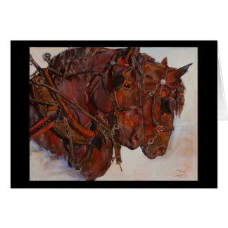 Cartão das belas artes do cavalo de esboço de