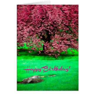 Cartão das belas artes do feliz aniversario