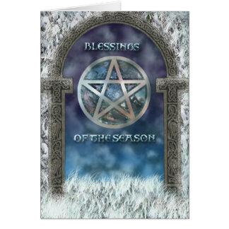 Cartão das bênçãos de Yule
