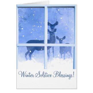 Cartão das bênçãos do solstício de inverno