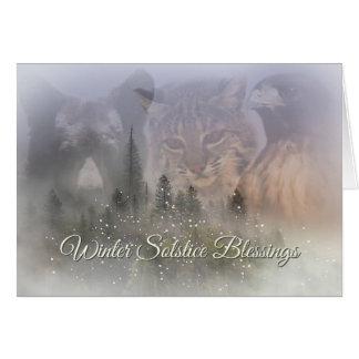 Cartão das bênçãos do solstício de inverno dos