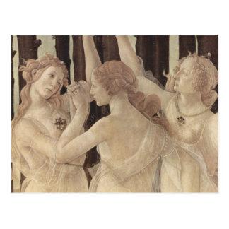 Cartão das benevolências de Botticelli três