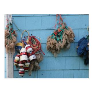 Cartão das bóias da lagosta & das bolsas da isca