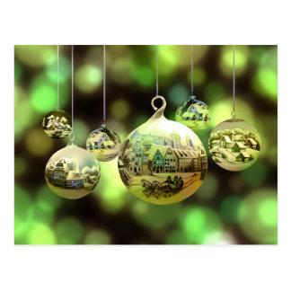 Cartão das bolas do Natal