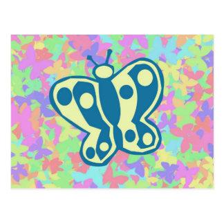Cartão das borboletas da primavera