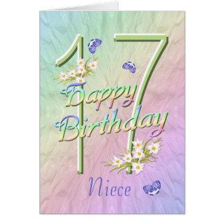Cartão das borboletas e das flores do aniversário
