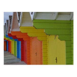 Cartão das cabanas III da praia de Scarborough
