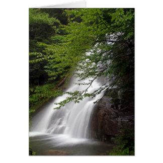 Cartão das cachoeiras de Vermont