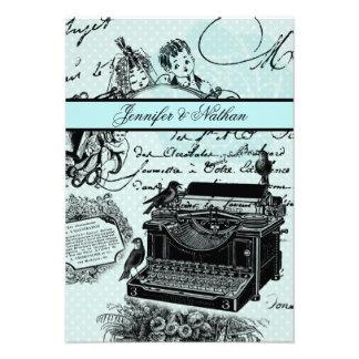 Cartão das cartas de amor RSVP do casamento vintag Convites Personalizado
