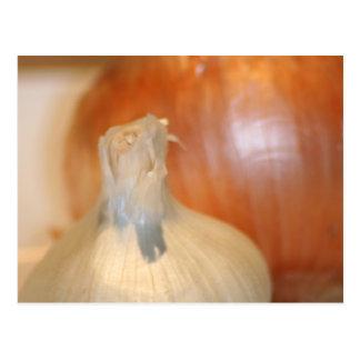 Cartão das cebolas do n do alho
