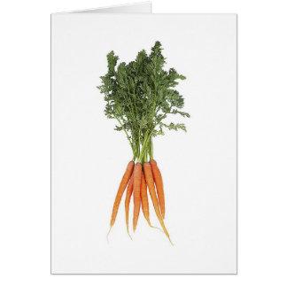 Cartão das cenouras
