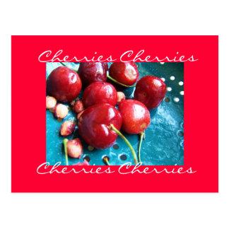 Cartão das cerejas
