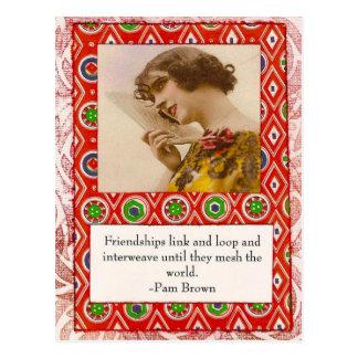 Cartão das citações da amizade do Pam Brown