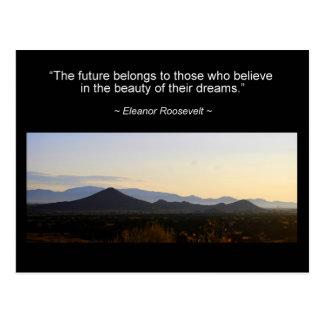 Cartão das citações da inspiração de Eleanor
