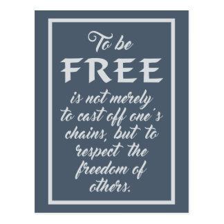Cartão das citações da liberdade