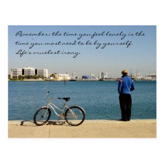 Cartão das citações da solidão/parque de Miami