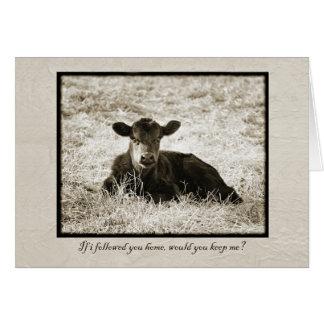 Cartão das citações da vitela do bebê do Sepia