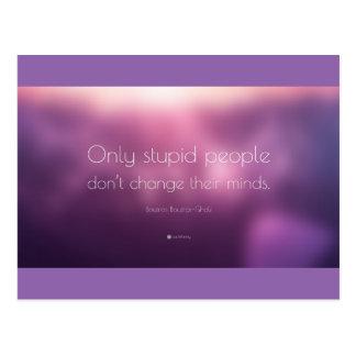 Cartão das citações de Boutros Ghali