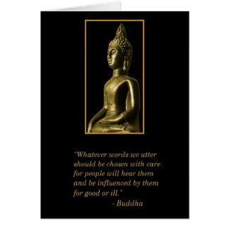 Cartão das citações de Buddha