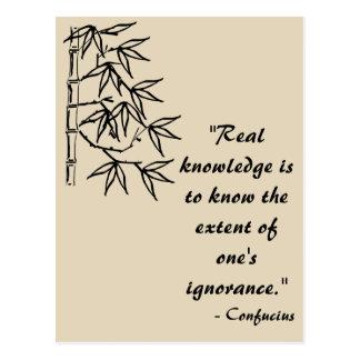 Cartão das citações de Confucius