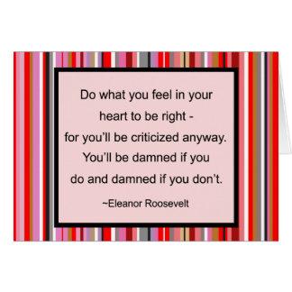 Cartão das citações de Eleanor Roosevelt