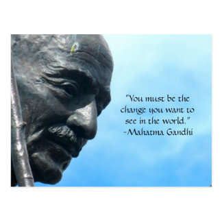 Cartão das citações de Gandhi - você deve ser a