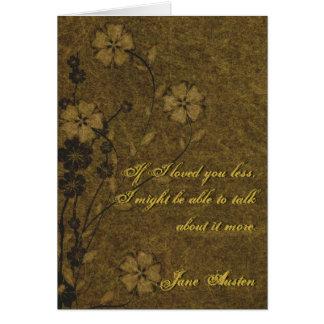Cartão das citações de Jane Austen PERSONALIZADO
