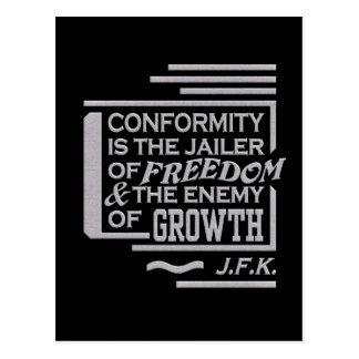 Cartão das citações de JFK