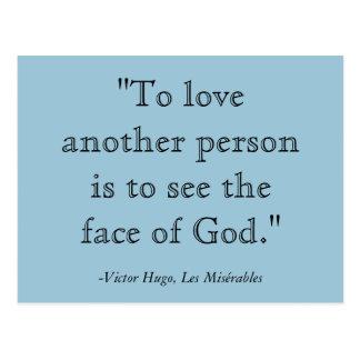 Cartão das citações de Les Misérables